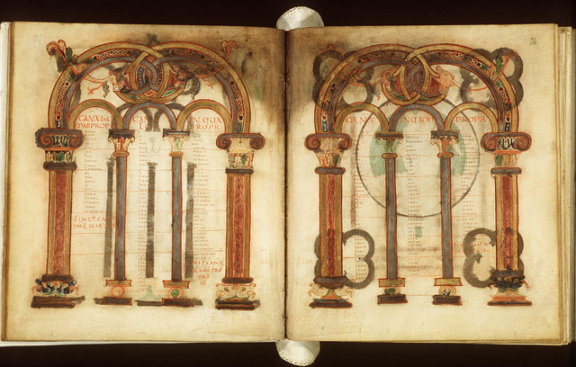 Canontable: table correlating the four Gospels devised by Eusebius of Caesarea