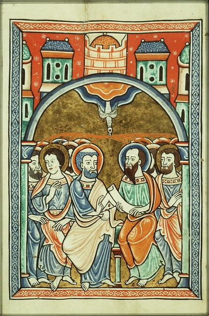Pentecost: the Holy Spirit descends upon the apostles