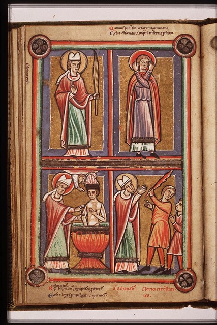 Constantine the Great baptized by St. Sylvester