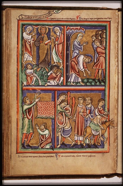 Pharisees bring a woman accused of adultery before Christ