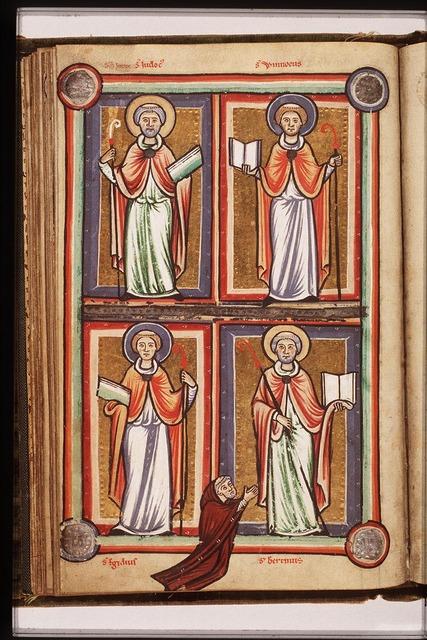 St. Aegidius (Giles) holding a book and a staff