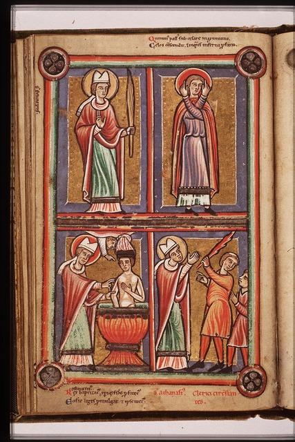 St. Polycarp of Smyrna holding a palm