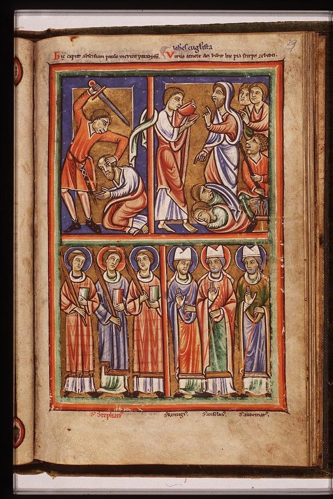 St Remigius Rémi Of Rheims St Anselm Of Canterbury And