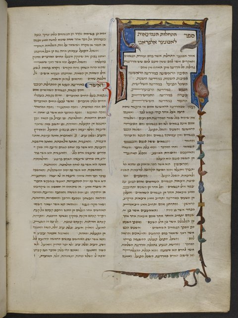 Decorated panel and border from BL Add 14763, f. 198v