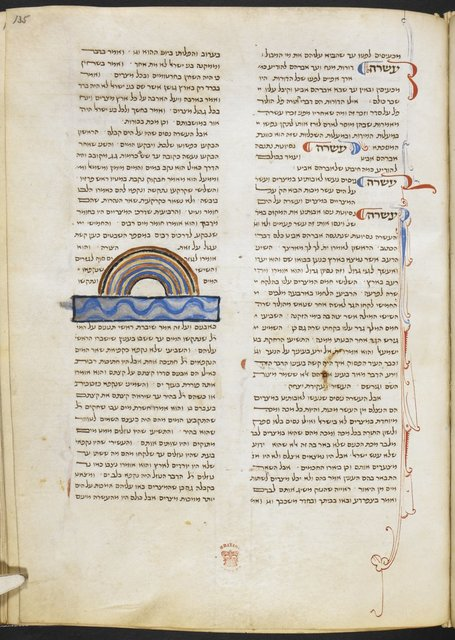 Division of the Red Sea from BL Add 14763, f. 135