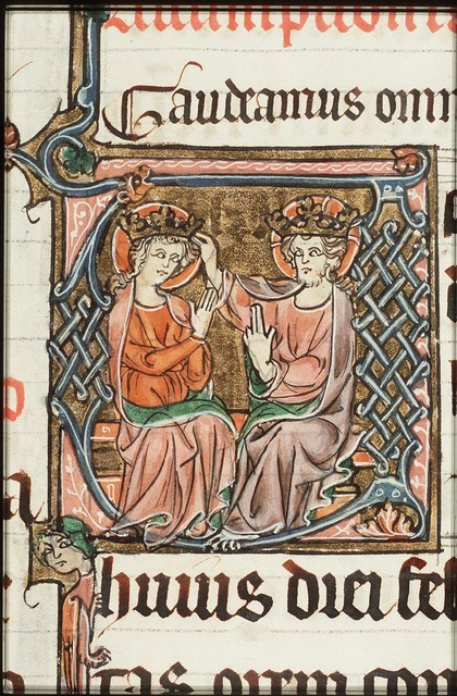 The coronation of Mary by Christ