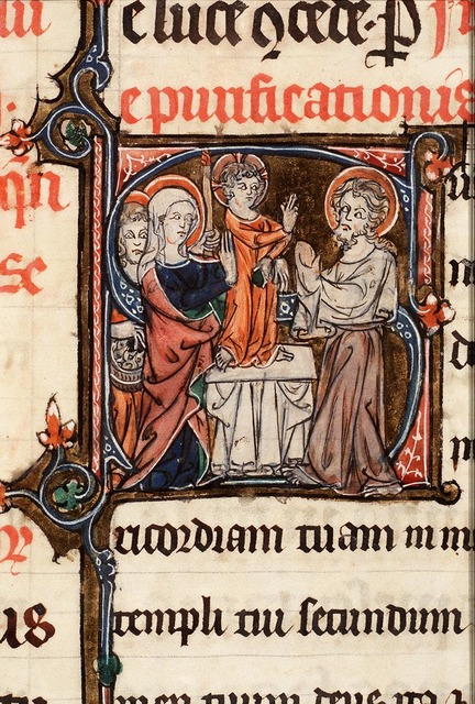 The presentation in the temple: Mary presents the Christ-child to Simeon