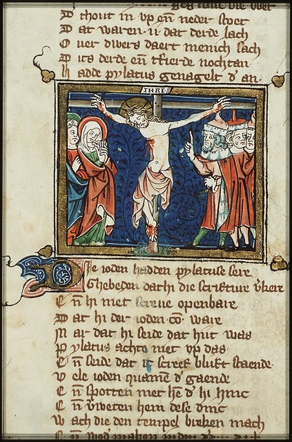 Crucifixion, with Mary, St. John and a multitude