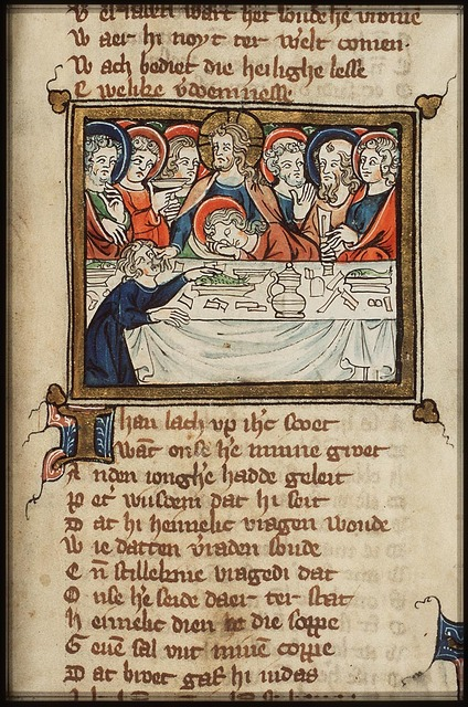 Last Supper: Christ and the apostles at table