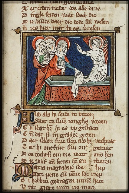 The three Mary's at the empty tomb