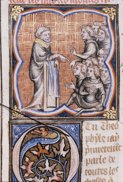 Apostle preaching from BL Royal 17 E VII, f. 217v