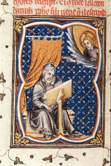 Baruch writing from BL Royal 17 E VII, f. 74v