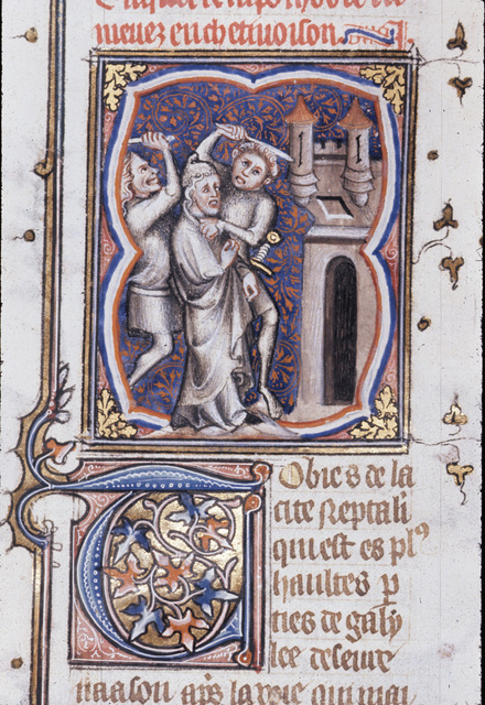 Captivity of Tobit from BL Royal 17 E VII, f. 198