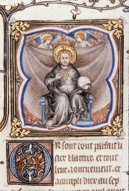 God seated from BL Royal 17 E VII, f. 6v