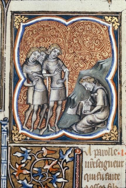 Hosea seated from BL Royal 17 E VII, f. 99