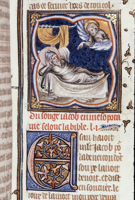 Jacob's dream from BL Royal 17 E VII, f. 27