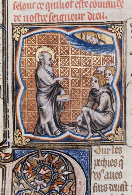Jeremiah speaking from BL Royal 17 E VII, f. 76v
