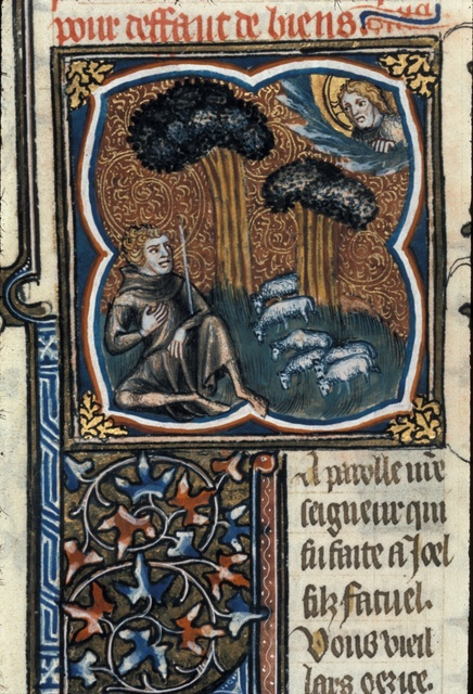 Joel seated from BL Royal 17 E VII, f. 101v