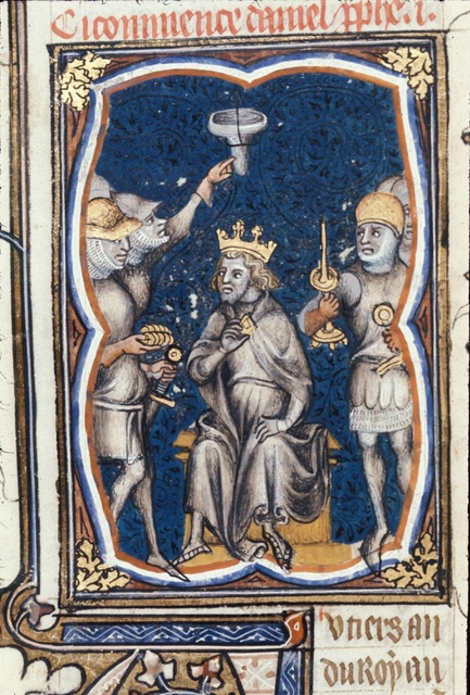 King seated from BL Royal 17 E VII, f. 92v