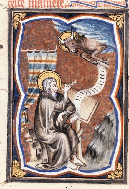 Luke from BL Royal 17 E VII, f. 159v