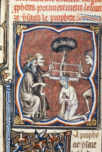 Martyrdom of Isaiah from BL Royal 17 E VII, f. 36v