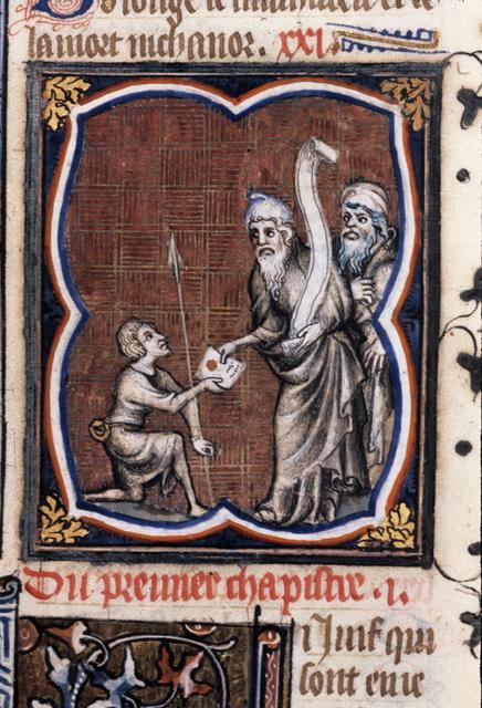 Messenger from BL Royal 17 E VII, f. 125v