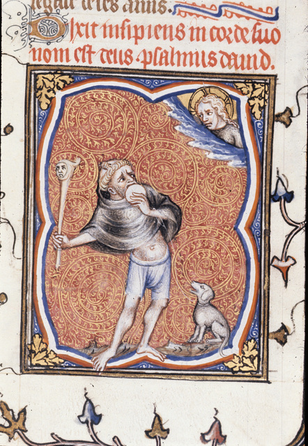The Fool from BL Royal 17 E VII, f. 241