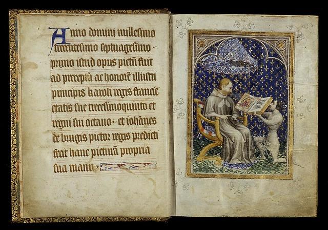 Dedication of the manuscript by Jean de Vaudetar to king Charles V of France