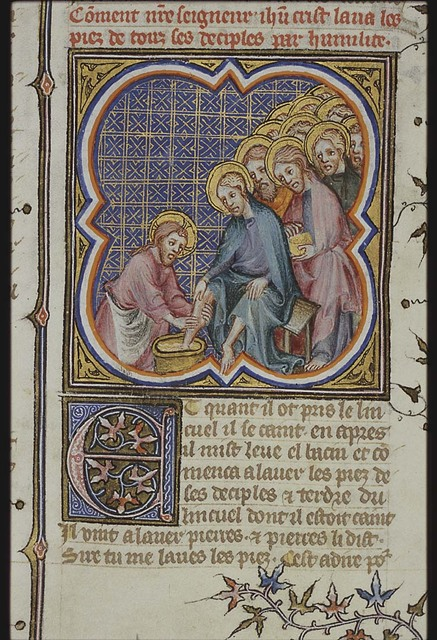 Last Supper: Christ washes the feet of the apostles