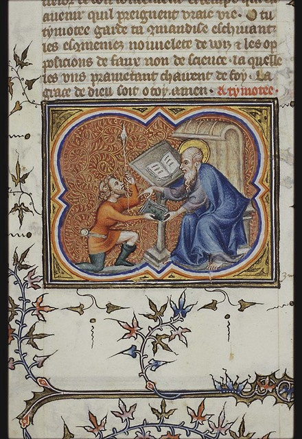 St. Paul sending a letter to Timothy