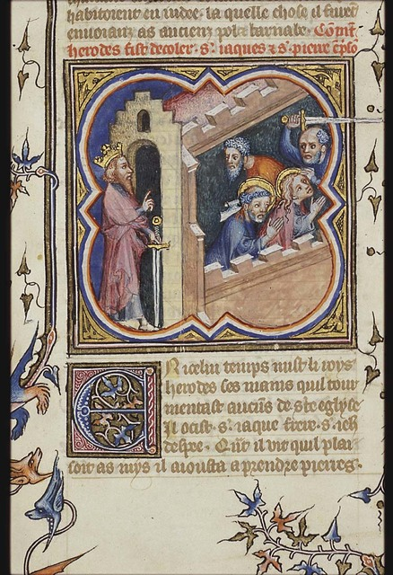 The martyrdom of St. James the Great: he is beheaded