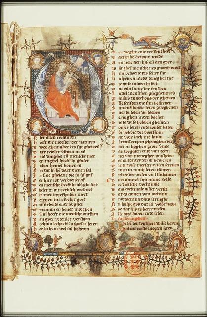 Albertan of Brescia(?) and four philosophers: Seneca, Ovid, Avicenna and Sidrach