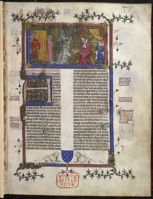 Charles V of France from BL Royal 19 C IV, f. 2