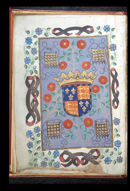 Beaufort's arms from BL Royal 19 B XVII, f. 1v