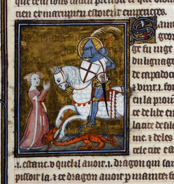 George from BL Royal 19 B XVII, f. 109