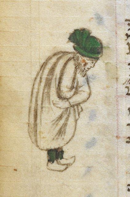 Man in prayer from BL Add 26968, f. 290