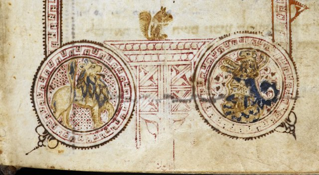 Inhabited frame from BL Or 2736, f. 479v