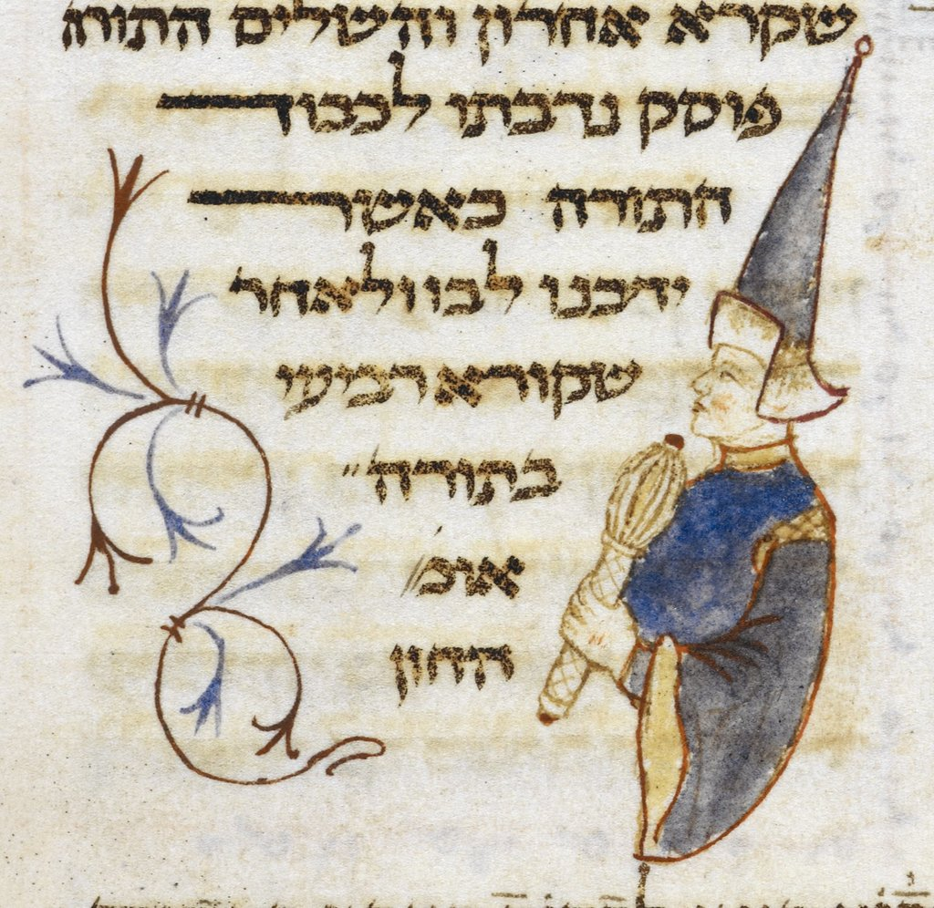 Man with lulav from BL Or 2736, f. 470v
