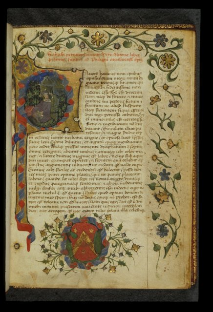 Petrarch from BL Harley 3454, f. 1