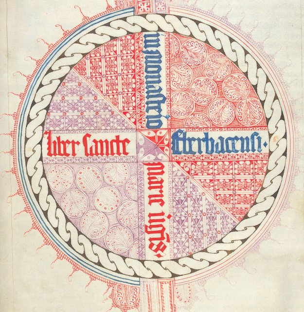 Detail: Circular design from BL Arundel 103, f. 3