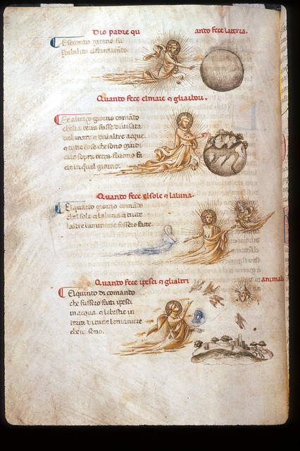 Days of Creation from BL YT 28, f. 43v