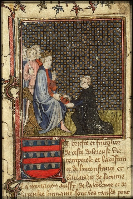 Simon de Hesdin presents his translation of the 'Facta et dicta memorabilia' of Valerius Maximus to Charles V, king of France