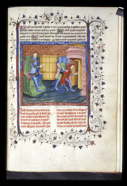 Prince ordering an arrest from BL Harley 4605, f. 95