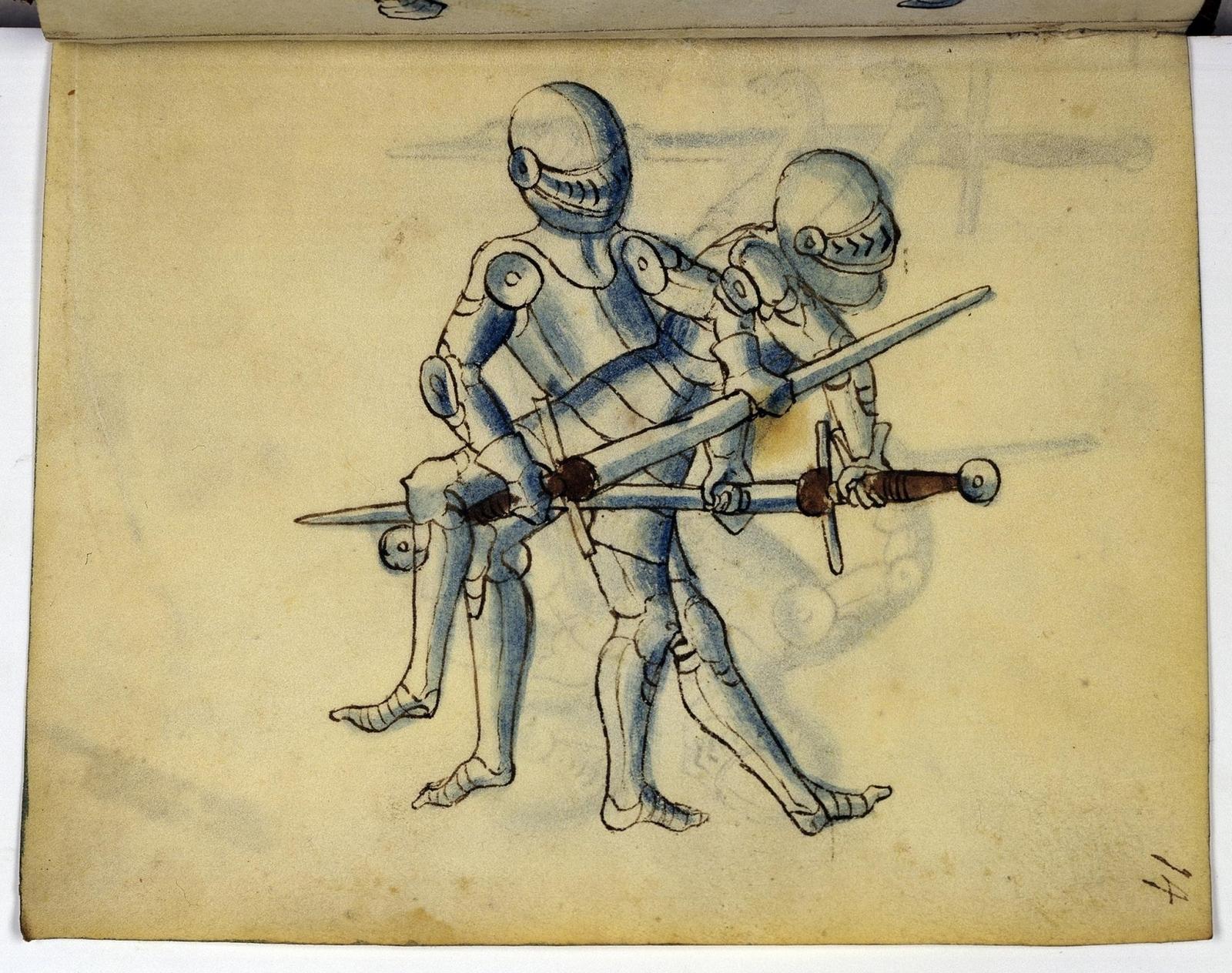 Cod. 11093, fol. 14r: Fecht - und Ringbuch
