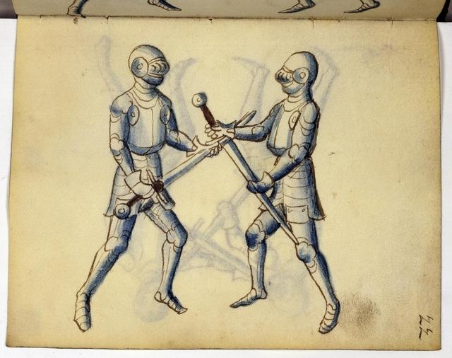 Cod. 11093, fol. 22r: Fecht - und Ringbuch