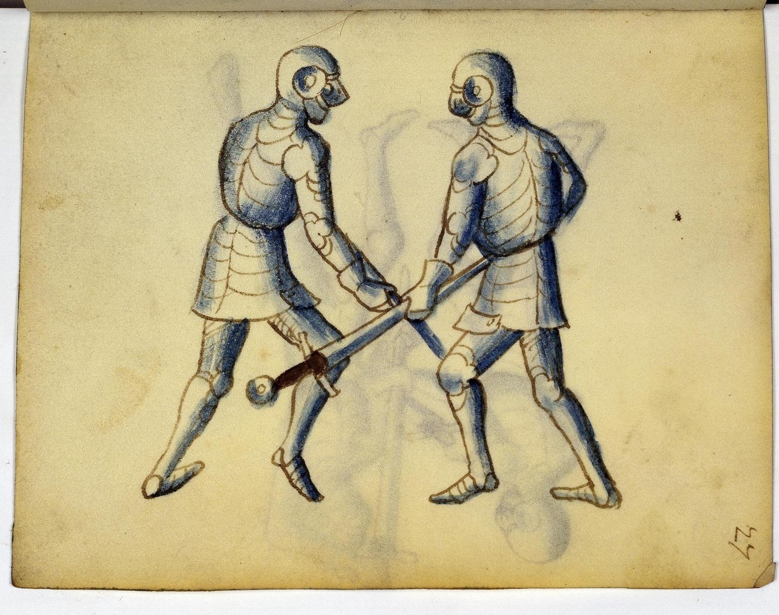 Cod. 11093, fol. 27r: Fecht - und Ringbuch