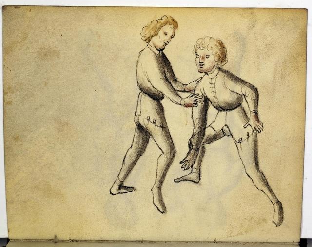 Cod. 11093, fol. 43v: Fecht - und Ringbuch