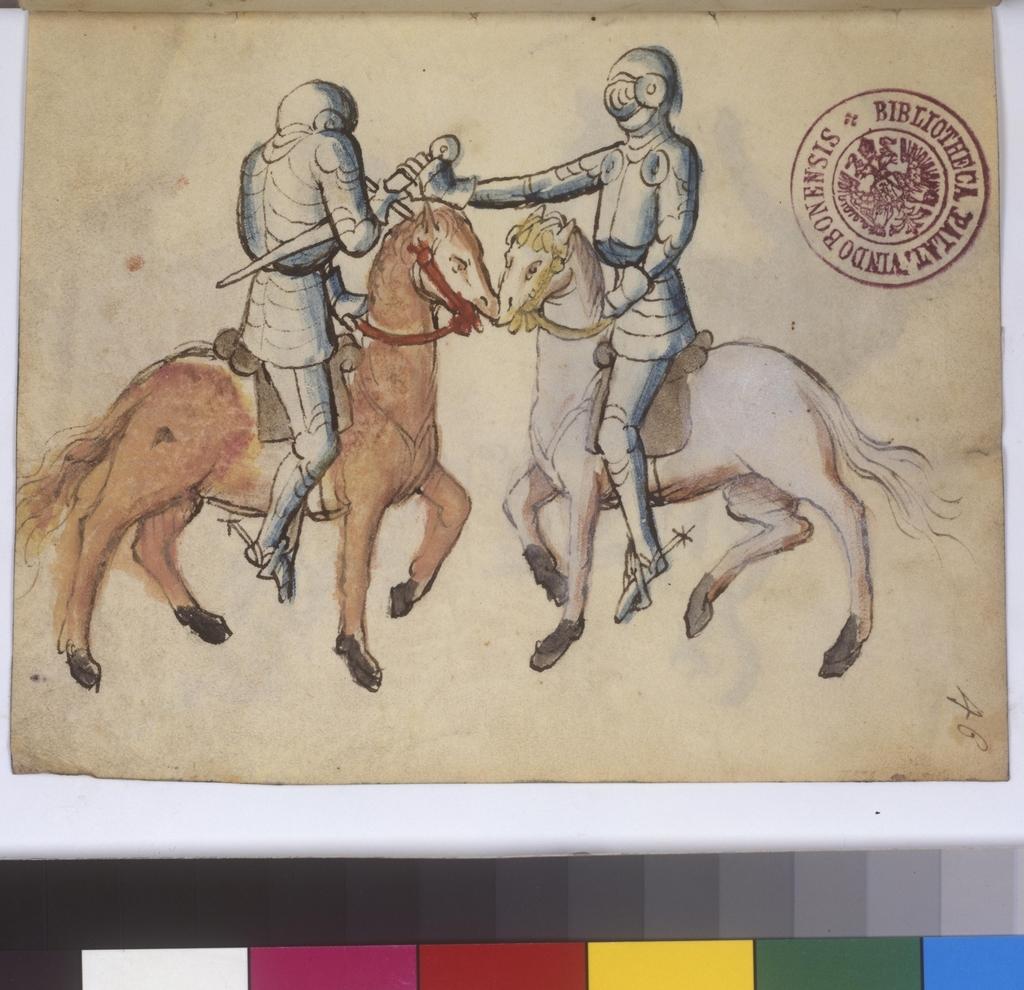 Cod. 11093, fol. 46v: Fecht - und Ringbuch
