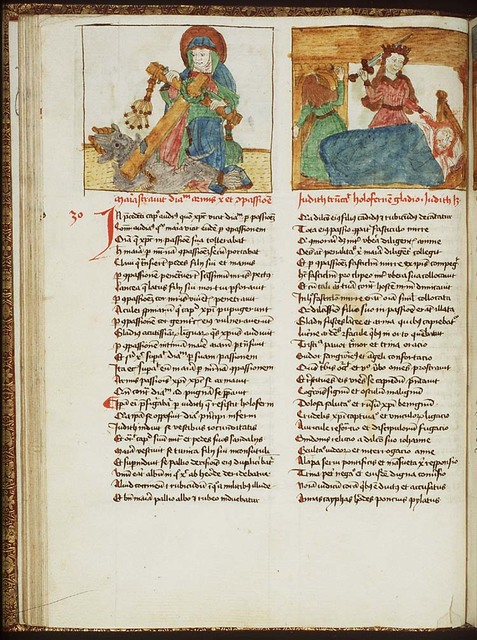 Compassio Mariae: Mary conquers the devil with the Instruments of the Passion