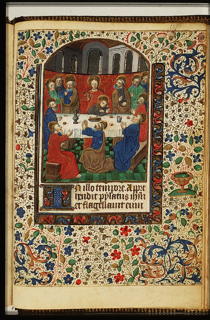 The Last Supper: Christ and the apostles at table